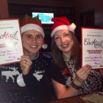 Paul and Jo with their mixology certificates