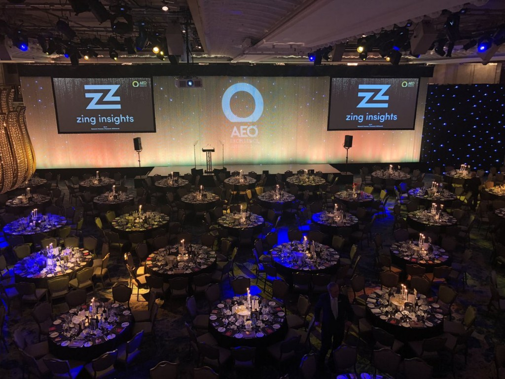 AEO Awards 2019 - the Great Hall at the Savoy Hotel, AEO Awards